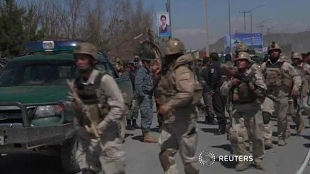 Explosions, gunfire near Afghan presidential candidate's home