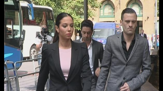 Grim-faced Tulisa arrives in court for drugs trial