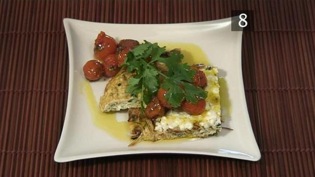 How To Cook A Feta And Leek Omelette