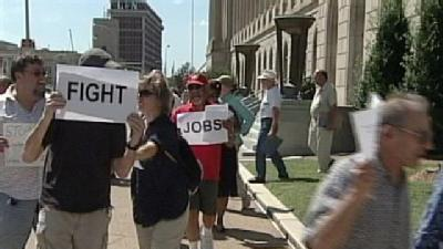 Protest Held At McConnell's Louisville Office