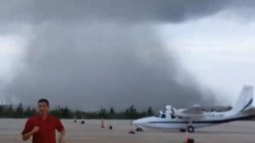 Waterspout Spotted Near Bahamas Airport