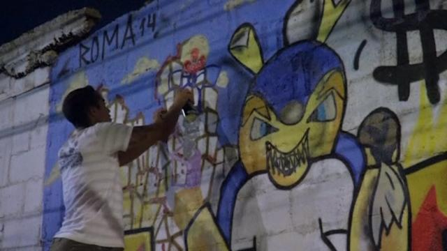 Brazil's graffiti artists protest World Cup