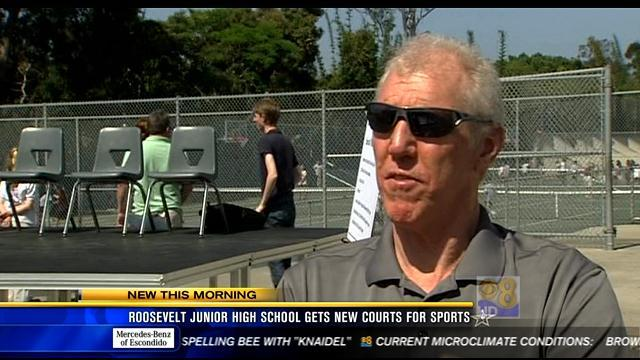 Roosevelt Junior High gets new courts for sports