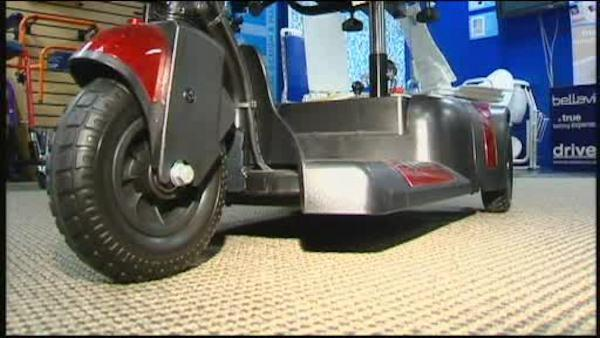 Motorized scooter stolen from veteran