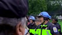 Police remove protesters from White House fence