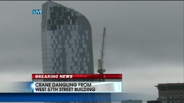 Crane Dangling From Same Building As Sandy Malfunction