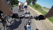 Cyclist Falls and Creates Pile-Up