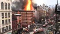Huge Fire Engulfs New York City Building