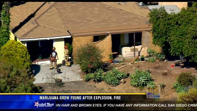 Marijuana operation found after explosion, fire at Encanto home