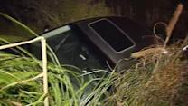 Man swerves into ditch in Larkspur