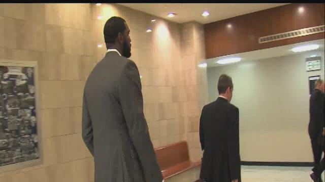 Oden makes first court appearance on battery charges