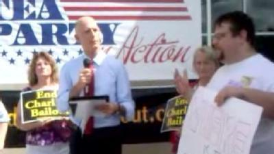 Protester Disrupts Rick Scott News Conference