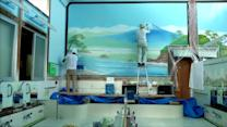 Painting Japan's bath houses, a dying profession