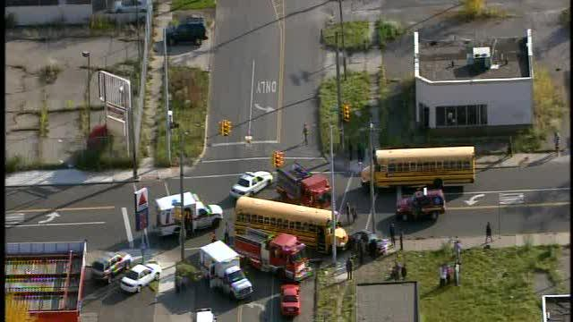 Kids reportedly injured in school bus accident in Detroit