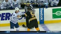 Frazer McLaren and Adam McQuaid scrap