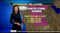 Expect rain, snow and wind all weekend