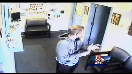 Caught on camera: Man steals donation jar from police station