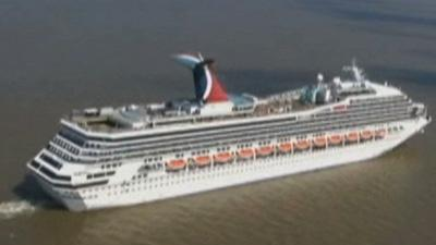 Raw: Cruise Ship Carnival Triumph Back to Sea