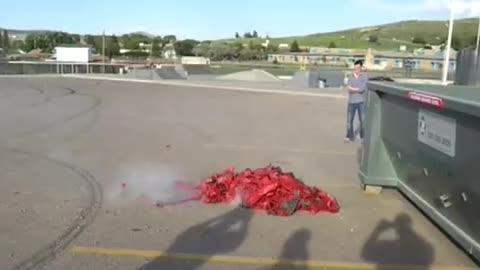128,000 Firecrackers Blown At Once