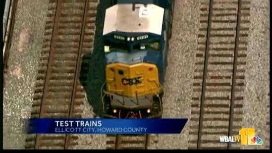 CSX tests train tracks after derailment