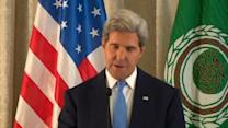 """Kerry: Arab FMs in agreement about Assad's """"deplorable"""" actions"""