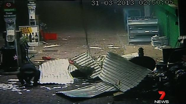 Gas attack on ATM in petrol station