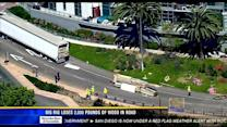 Big rig loses 2,000 pounds of wood on downtown roadway
