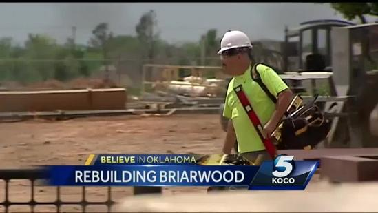 Briarwood Elementary students return to see school's construction