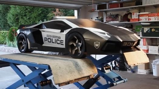 Time Lapse Shows Construction of the 'Ultimate' Papercraft Supercar