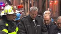 Mayor De Blasio Briefs Press on NYC Building Collapse