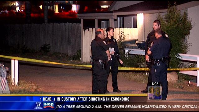 1 dead, 1 in custody after shooting in Escondido