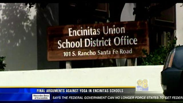 Final arguments in case against yoga in North County schools