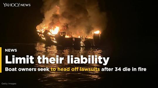Boat owners seek to head off lawsuits after 34 die in fire