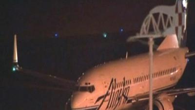 Raw: Jet Lands After Pilot Loses Consciousness