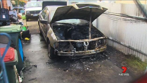Police hunt arsonists who torched cars