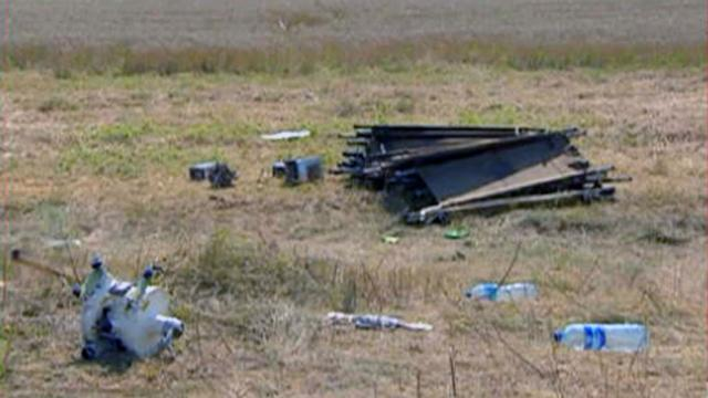 Security at MH17 crash site