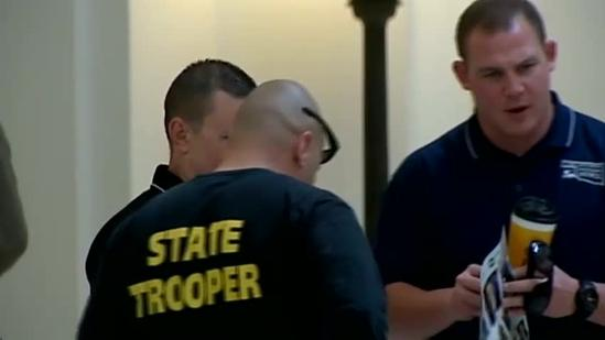 Troopers pack Capitol to lobby for a raise