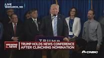 Trump holds news conference after clinching nomination