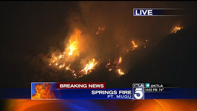 Thousands of Homes Threatened by Massive Springs Fire