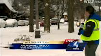 Action News' Andrew Del Greco reports on Pittsburgh's snowy side streets