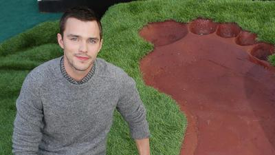 A Giant Unveiling for Nicholas Hoult