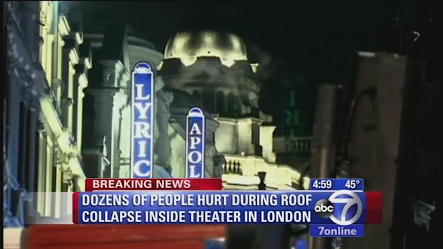 Dozens injured in London theater collapse