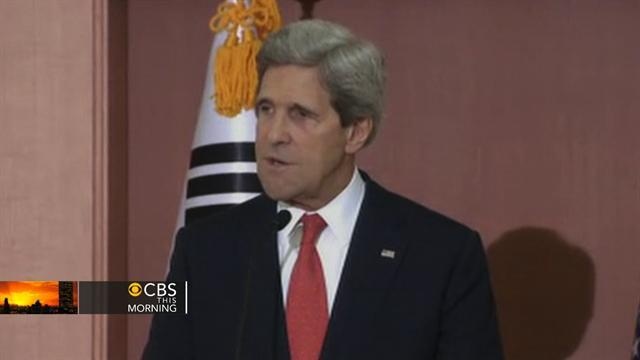 Kerry in S. Korea, says N. Korea threats