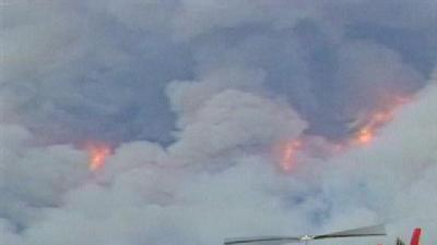 Fire In Santa Fe Forest Swells