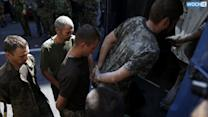 Rebels Parade Captured Ukrainian Soldiers In East