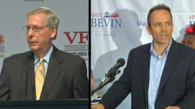 Mitch McConnell threatened by Matt Bevin in primaries?