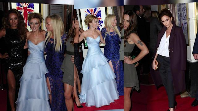 Victoria Beckham Sits Away From Spice Girls at Viva Forever Premiere