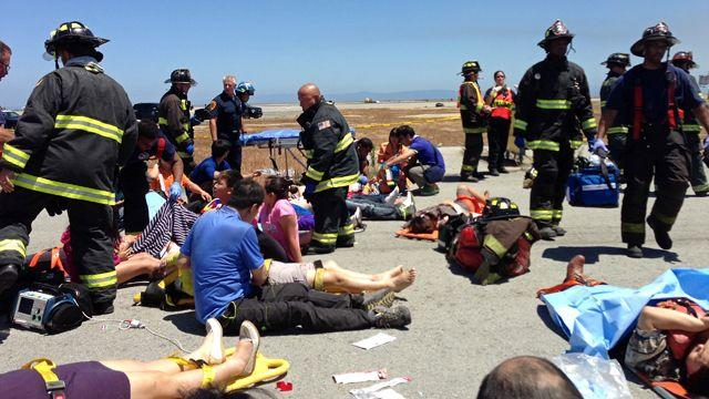 911 call from the San Francisco crash site