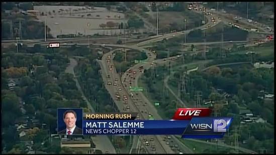 Ramps in Marquette Interchange reduced to 1 lane on Tuesday, Wednesday