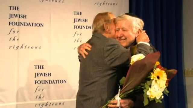 Holocaust survivor reunites with man whose family hid him